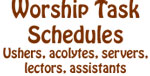 Worship Task Schedules
